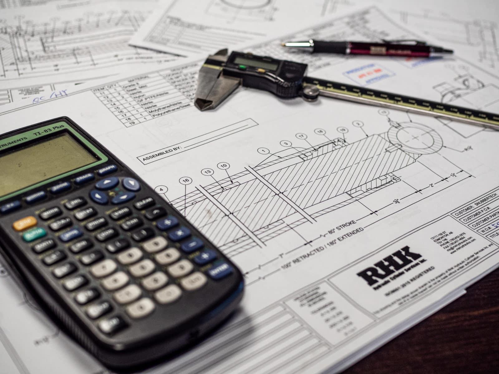 Hydraulic Cylinder Engineering Design Drafting Blueprints