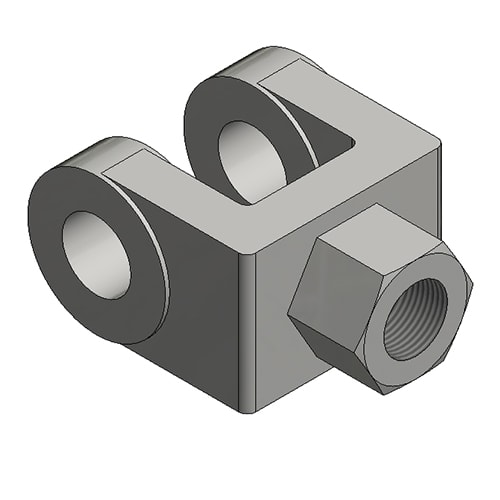 Hydraulic Cylinder Custom Mounting Connection Threaded Clevis