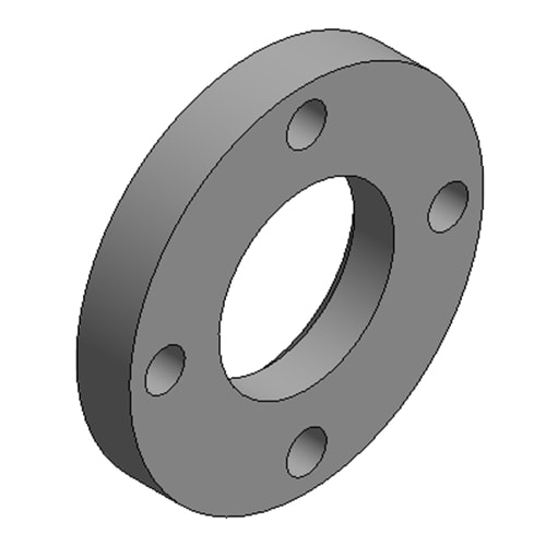 Hydraulic Cylinder Custom Mounting Connection Round flange