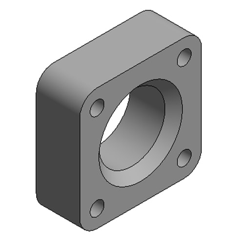 Hydraulic Cylinder Custom Mounting Connection Square Flange