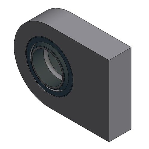 Hydraulic Cylinder Custom Mounting Connection Lug with Spherical Plane Bearing