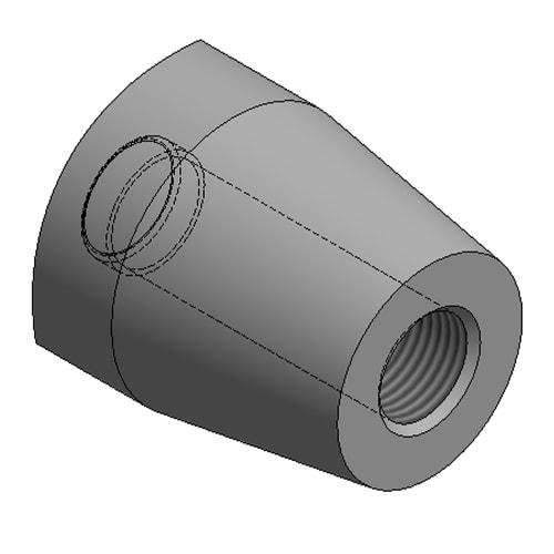 Hydraulic Cylinder Custom Mounting Connection Female Threaded