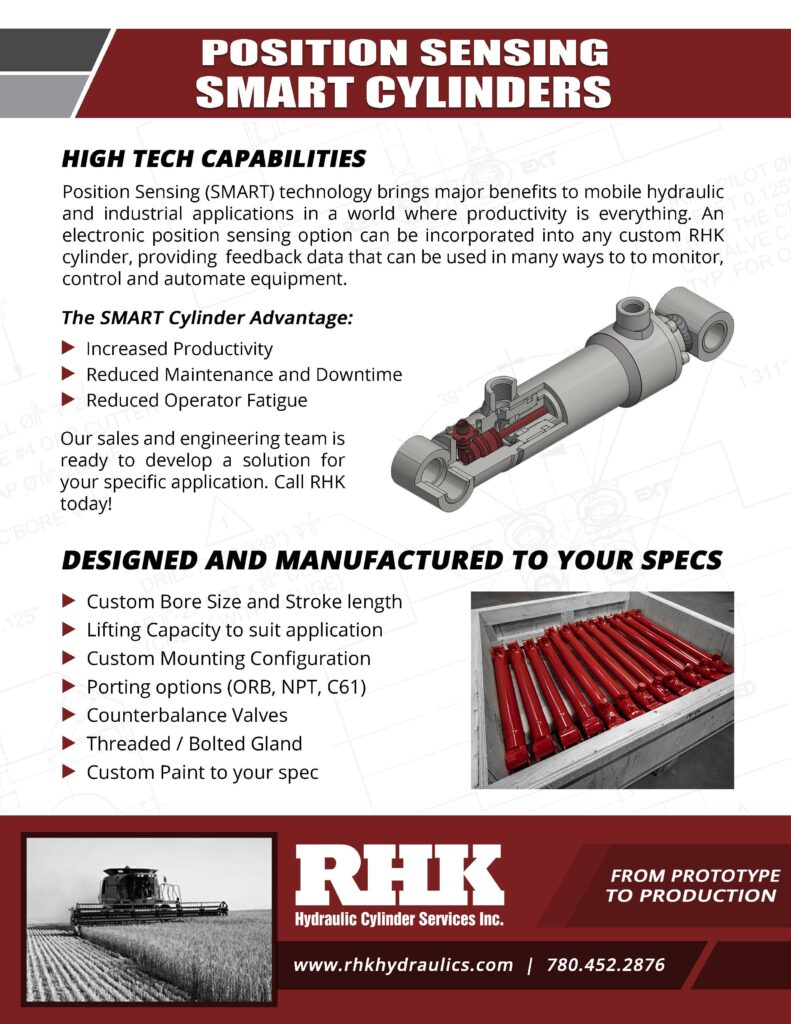 Position Sensing Smart Hydraulic Cylinder Brochure Custom Manufacturing and Repair