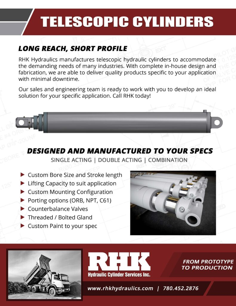 Telescopic Hydraulic Cylinder Brochure Custom Manufacturing and Repair