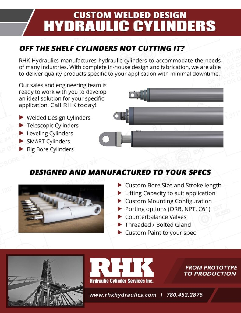 Welded Design Hydraulic Cylinder Brochure Custom Manufacturing and Repair