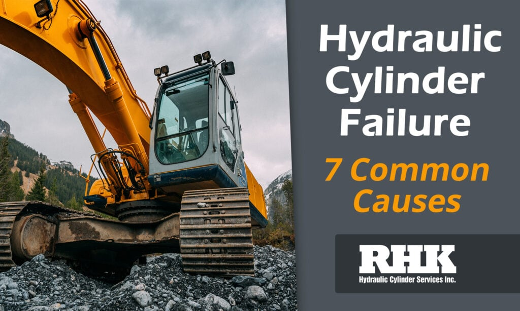 Excavator Hydraulic Boom Lift Cylinder Failure Common Causes