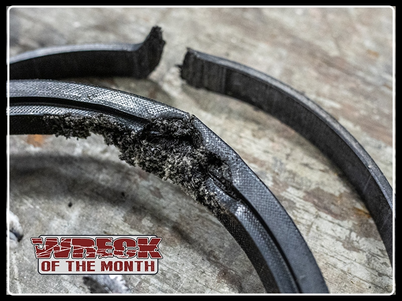 Wreck of the Month hydraulic cylinder seal damage failure
