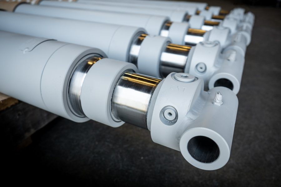 Telescopic Hydraulic Cylinder Custom Manufacturing Edmonton Alberta Canada